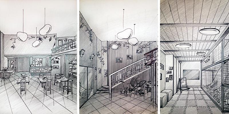E2-interiors portfolio Кафе в микрогороде В лесу