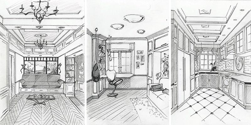 E2-interiors portfolio ул. Академика Королева